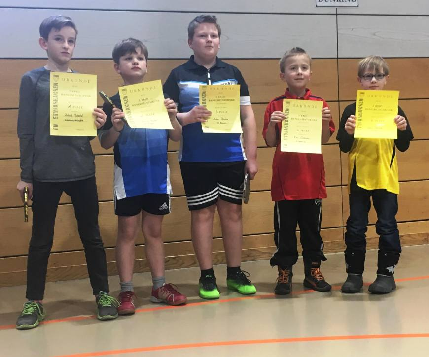 2. Kreisranglistenturnier in Kitzingen der Tischtennis-Jugend Bild 3