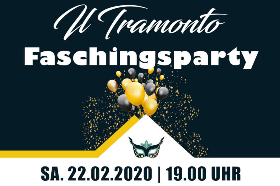 Faschingsflyer - Fasching 2020 im Il Tramonto