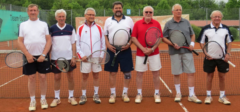Herren 60 Tennis TSV Rottenbauer Gruppenbild