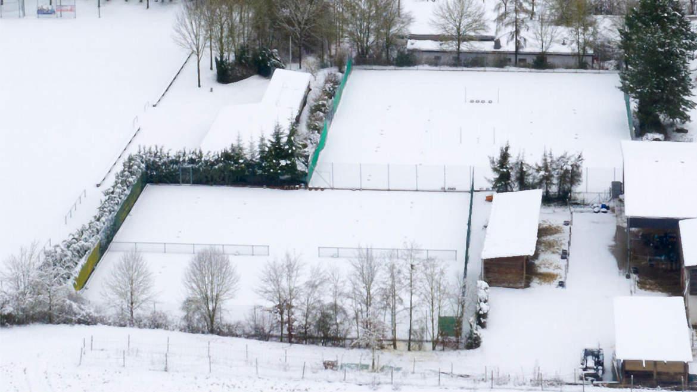 Tennisanlage des Rottenbauer bei Schnee