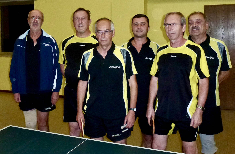 Tischtennis Herren 2 TSV Rottenbauer Mannschaftsbild