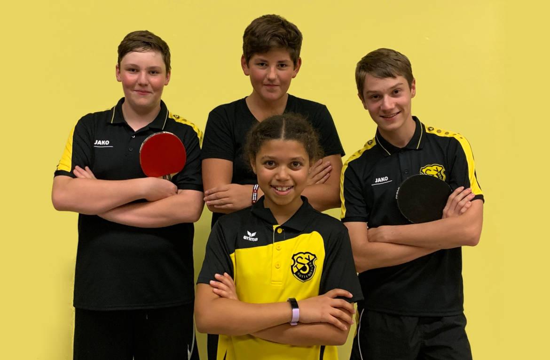 Tischtennis Jugend 1 TSV Rottenbauer Mannschaftsbild