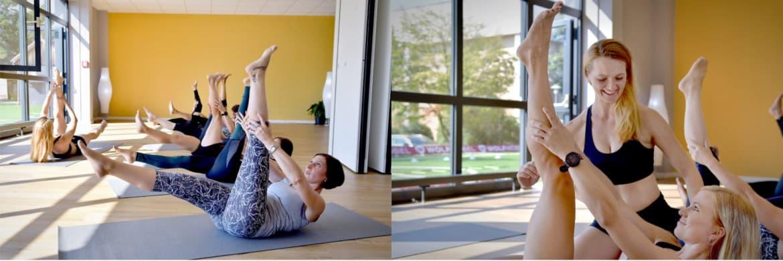 Dehnübungen im Bauch-Beine-Po Fitness Kurs