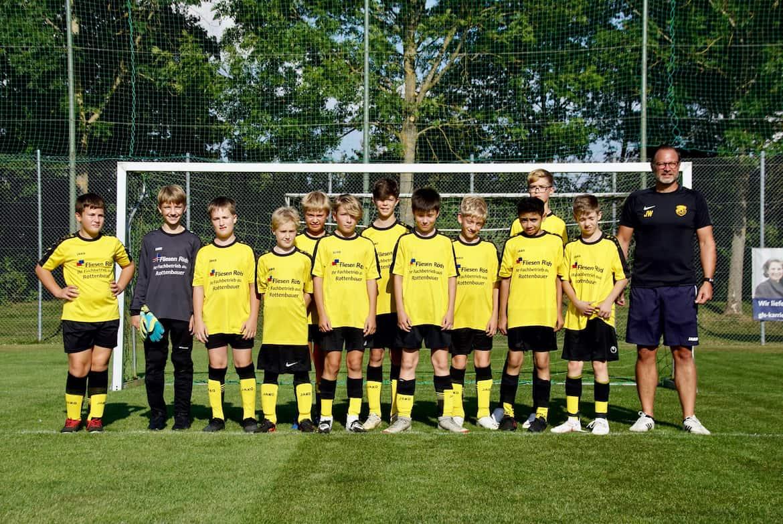 U13 Fußball TSV Rottenbauer Mannschaftsbild